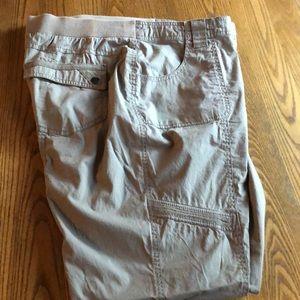 Chico's size 3 women's cargo pants tan
